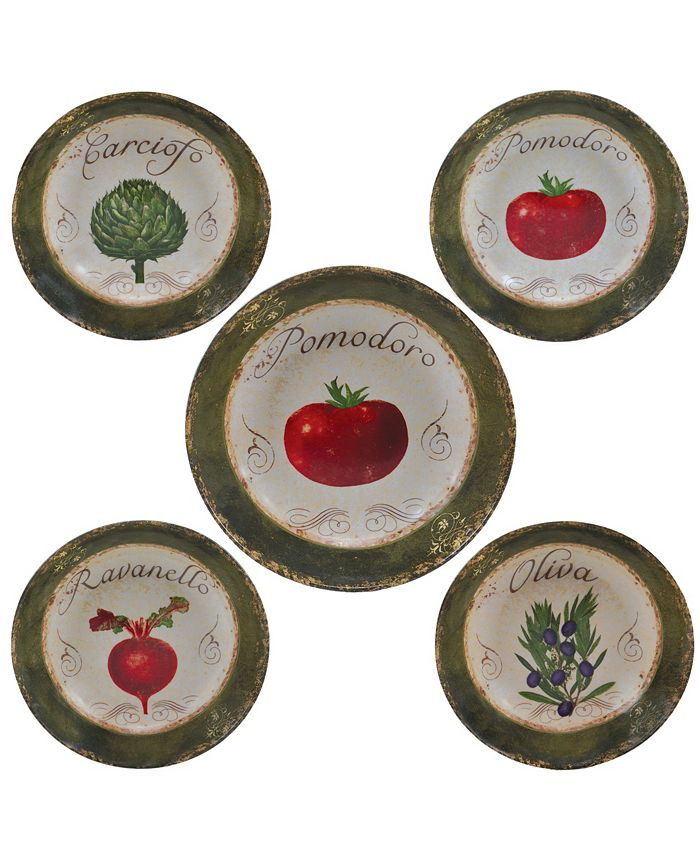 Certified International - Pomodoro 5-Pc. Pasta Sets