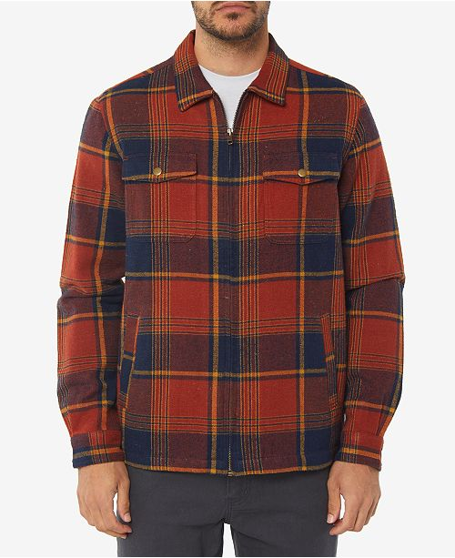 d86cdc3f O'Neill Men's Lodge Plaid Flannel Jacket & Reviews - Coats & Jackets ...