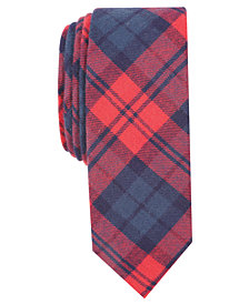 Penguin Men's Decter Skinny Plaid Tie