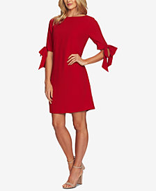CeCe Elbow-Sleeve Bow Shift Dress