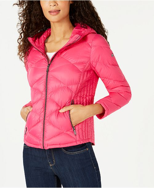 Michael Kors Hooded Packable Puffer Coat