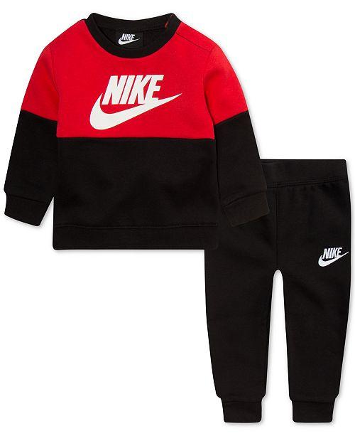 d66395ebee Nike Toddler Boys 2-Pc. Air Colorblocked Fleece Top & Jogger Pants Set
