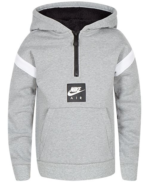 67bc844e3540 Nike Little Boys Air Pullover 1 4-Zip Hoodie   Reviews - Sweatshirts ...