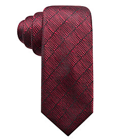 Alfani Men's Epping Slim Textured Multi-Stripe Silk Tie, Created for Macy's