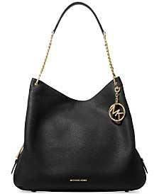 619ae85bc0e0 Michael Kors Brooke Pebble Leather Bucket Shoulder Bag & Reviews ...
