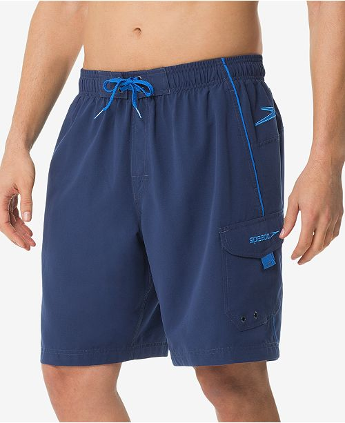 9abe6453f27 Speedo Men's Performance Marina 9'' Swim Trunks & Reviews - Swimwear ...
