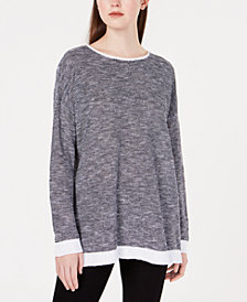 Eileen Fisher Organic Contrast-Trim Sweater, Regular & Petite