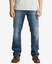 Silver Jeans Co. Men's Eddie Relaxed-Fit Tapered Big and Tall Stretch Jeans
