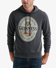 Lucky Brand Men's Guinness Oval Burnout Fleece Hoodie