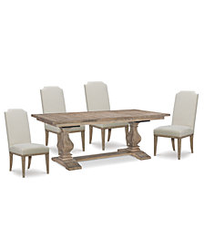Rachael Ray Monteverdi Dining Furniture, 5-Pc. Set (Table & 4 Upholstered Side Chairs)