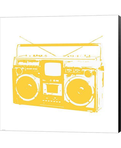 Metaverse Yellow Boom Box by Veruca Salt Canvas Art