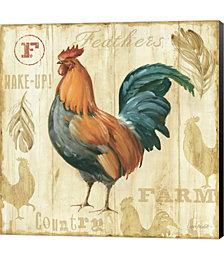 Joli Rooster II by Lisa Audit Canvas Art