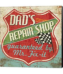 Mancave IV - Dads Repair Shop by Albena Hristova Canvas Art
