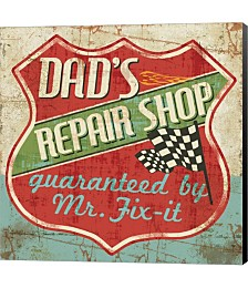 Mancave IV - Dads Repair Shop by Albena Hristova Canvas Art