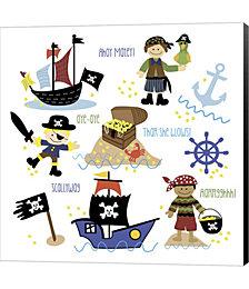 Pirates & Ships by Erin Clark Canvas Art
