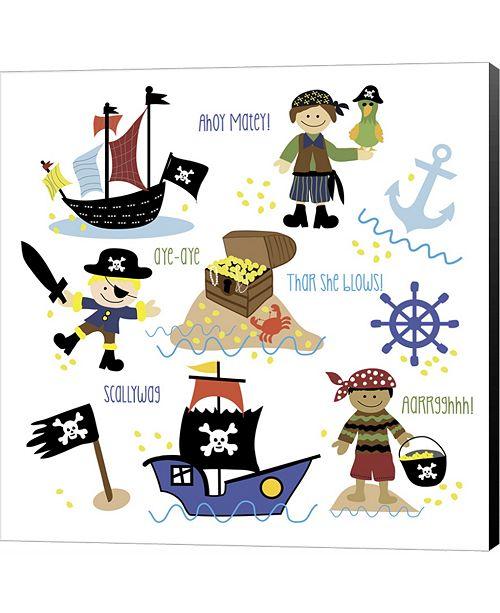 Metaverse Pirates & Ships by Erin Clark Canvas Art
