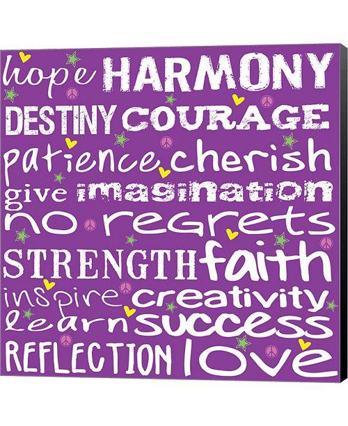 Metaverse Hope Harmony Destiny - Purple by Louise Carey Canvas Art