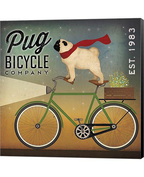 Metaverse Pug on a Bike by James Wiens Canvas Art