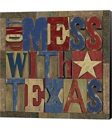 Texas Printer Block I by Tara Reed Canvas Art