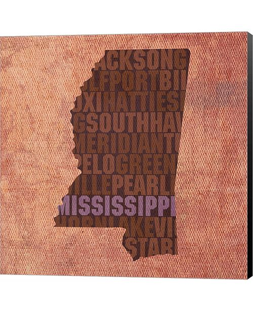 Metaverse Mississippi State Words by David Bowman Canvas Art