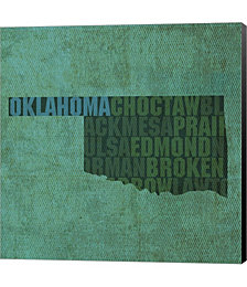 Oklahoma State Words by David Bowman Canvas Art
