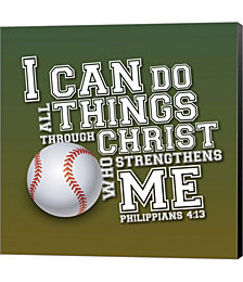 I Can Do All Sports - Baseball by Scott Orr Canvas Art