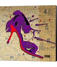 Purple Bow Heel by Roderick E. Stevens Canvas Art