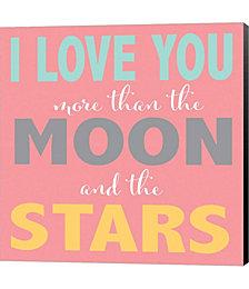 Moon and Stars Girls by Alli Rogosich Canvas Art