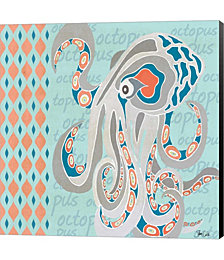 Nautical Octopus by Shanni Welsh Canvas Art