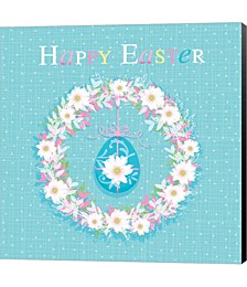 Happy Easter - Wreath by P.S. Art Studios Canvas Art