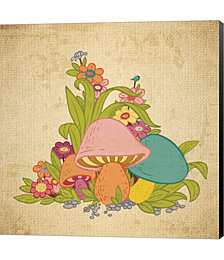 Colorful Mushrooms by Color Me Happy Canvas Art
