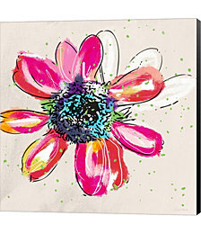 Colorful Daisy by Linda Woods Canvas Art