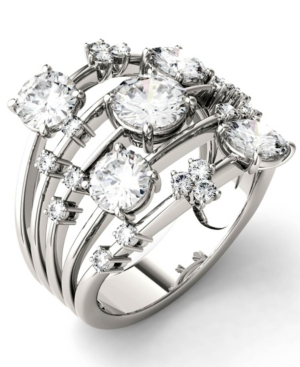 Moissanite Galaxy Fashion Ring (3-1/8 ct. t.w. Diamond Equivalent) in 14k White Gold