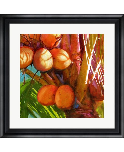 Metaverse Water Palm 1 by Rick Novak Framed Art