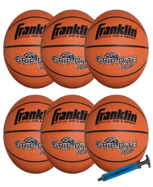 Franklin Sports Official Size Grip - Rite 100 Team Basketball Pack/Pump