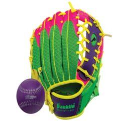 """Franklin Sports 9.5"""" Teeball Meshtek Glove & Ball Set -Left Handed"""