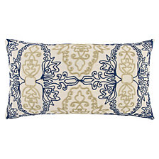 "Rizzy Home Blue 14"" X 26"" Medallion Poly Filled Pillow"