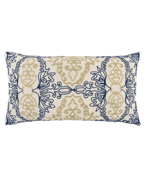 "Rizzy Home 14"" x 26"" Medallion Poly Filled Pillow"