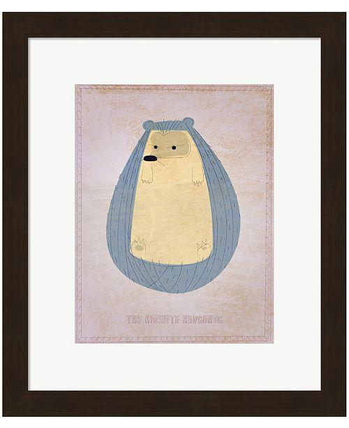 Metaverse The Hirsute Hedgehog by John W. Golden Framed Art