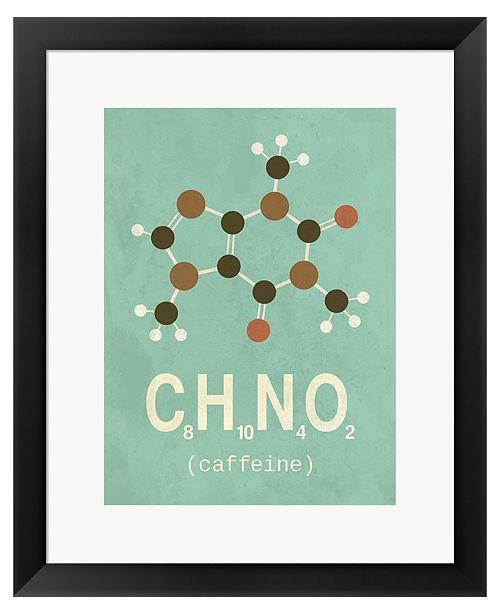 Metaverse Molecule Coffeine by TypeLike Framed Art