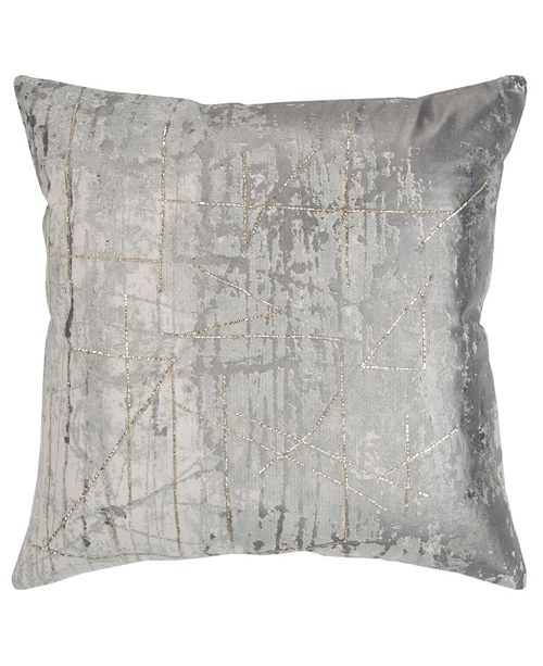 "Rizzy Home 20"" x 20"" Abstract Design Pillow Poly Filled"