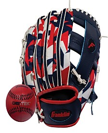 "Franklin Sports 9.5"" Rtp Performance Digi Teeball Glove And Ball Combo - Right Handed Thrower"