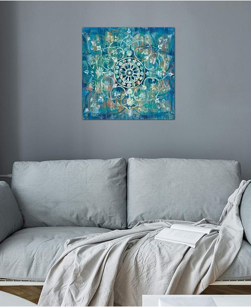 "iCanvas ""Mandala In Blue III"" by Danhui Nai Gallery-Wrapped Canvas Print (18 x 18 x 0.75)"
