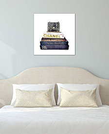 "iCanvas ""Stack Of Fashion Books With A Chanel Bag"" by Amanda Greenwood Gallery-Wrapped Canvas Print"