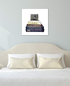 "iCanvas ""Stack Of Fashion Books With A Chanel Bag"" by Amanda Greenwood Gallery-Wrapped Canvas Print (18 x 18 x 0.75)"
