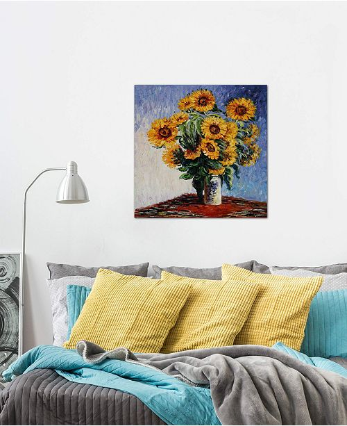 """iCanvas """"Sunflowers"""" by Claude Monet Gallery-Wrapped Canvas Print (18 x 18 x 0.75)"""