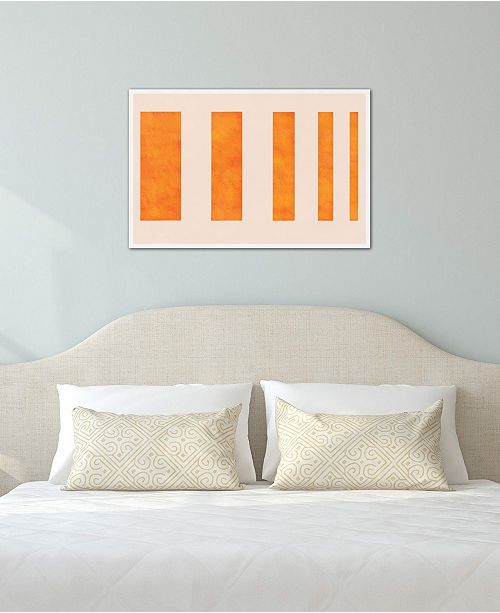 """iCanvas """"Modern Art - Orange Levies"""" by 5by5collective Gallery-Wrapped Canvas Print (18 x 26 x 0.75)"""