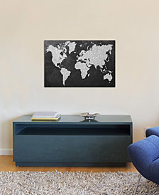 "iCanvas ""Grey Map"" by Natasha Westcoat Gallery-Wrapped Canvas Print (26 x 40 x 0.75)"
