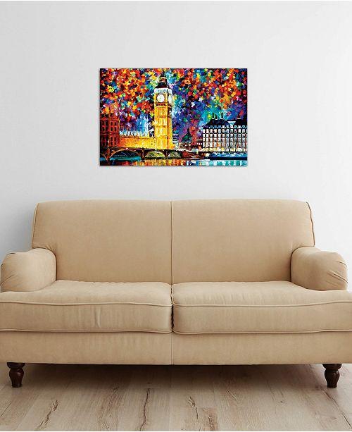 "iCanvas ""Big Ben - London 2012"" by Leonid Afremov Gallery-Wrapped Canvas Print (26 x 40 x 0.75)"