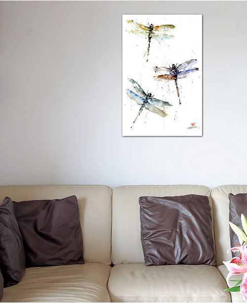 """iCanvas """"Dragonflies"""" by Dean Crouser Gallery-Wrapped Canvas Print (26 x 18 x 0.75)"""
